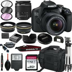 Canon EOS 2000D / Rebel T7 DSLR Camera + EF-S 18-55mm Lens+