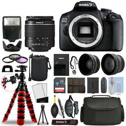 Canon EOS 2000D / T7 DSLR Camera w/ 18-55mm + 16GB 3 Lens Ul