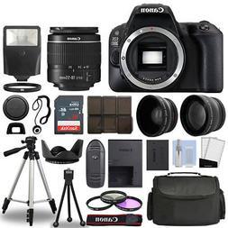 Canon EOS 200D / Rebel SL2 SLR Camera + 3 Lens Kit 18-55mm +