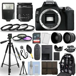 Canon EOS 250D / Rebel SL3 DSLR Camera + 18-55mm Lens+ 30 Pi
