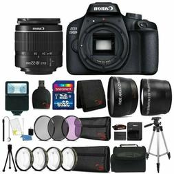 Canon EOS 4000D Rebel T100 18MP Digital SLR Camera + 18-55mm