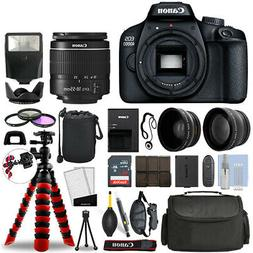 Canon EOS 4000D / T100 SLR Camera w/ 18-55mm+ 16GB 3 Lens Ul