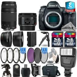 Canon EOS 5D Mark IV Camera + 50mm 1.8 STM + 75-300 III + 2y