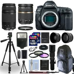 Canon EOS 5D Mark IV DSLR Camera + 5 Lens Kit 28-75mm + 70-3