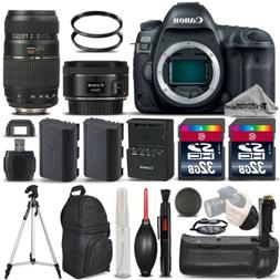 Canon EOS 5D Mark IV DSLR Camera + 50mm 1.8 STM + 70-300 + B