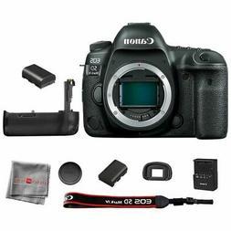 Canon EOS 5D Mark IV DSLR Camera Body +  Battery Grip + Extr