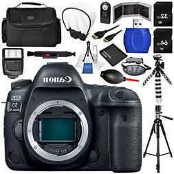 Canon EOS 5D Mark IV DSLR Camera  17PC Accessory Bundle - In