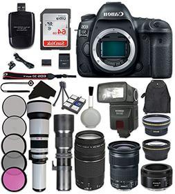 Canon EOS 5D Mark IV Digital SLR Camera Bundle with Canon EF