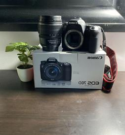 Canon EOS 70D Camera body with 15-85mm lens