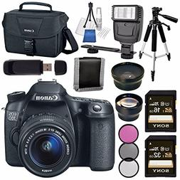 Canon EOS 70D DSLR Camera with 18-55mm STM Lens + 58mm Wide