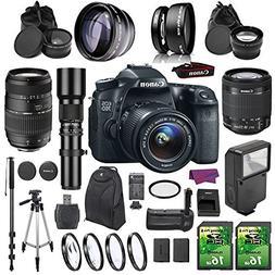Canon EOS 70D DSLR Camera Bundle with 18-55mm IS STM Lens an