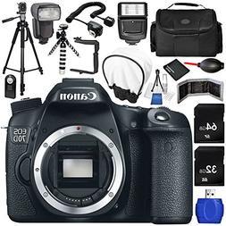 Canon EOS 70D DSLR Camera  17PC Accessory Bundle - Includes