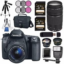 Canon EOS 70D DSLR Camera with 18-55mm STM Lens + Canon EF 7
