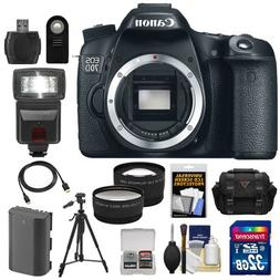 Canon EOS 70D Digital SLR Camera Body with 32GB Card + Batte