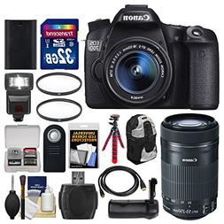 Canon EOS 70D Digital SLR Camera & EF-S 18-55mm IS with 55-2