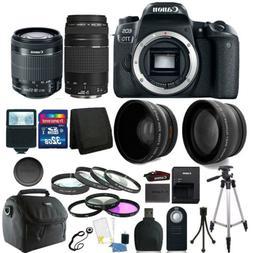 Canon EOS 77D 24.2MP DSLR Camera + 18-55mm + 75-300mm + 32GB