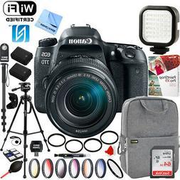 Canon EOS 77D CMOS  DSLR Camera EF-S 18-135mm Lens 64GB Pro