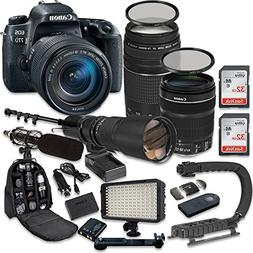 Canon EOS 77D DSLR Camera Bundle with Canon EF-S 18-135mm f/