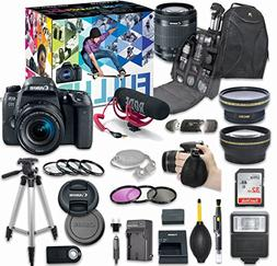 Canon EOS 77D DSLR Camera Deluxe Video Creator Kit with Cano
