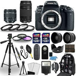 Canon EOS 77D DSLR Camera + 18-55mm STM + 75-300mm + 30 Piec
