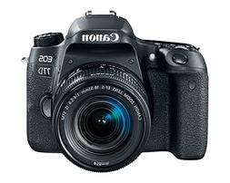 Canon EOS 77D Digital SLR Camera with 18-55mm EF-S IS STM Le