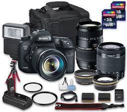Canon EOS 7D Mark II DSLR Camera Bundle with W-E1 Wi-Fi Adap