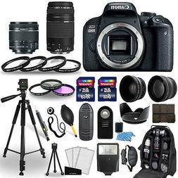 Canon EOS 800D DSLR Camera + 18-55mm STM + 75-300mm + 30 Pie
