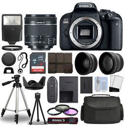 Canon EOS 800D SLR Camera Body + 3 Lens Kit 18-55mm IS STM +
