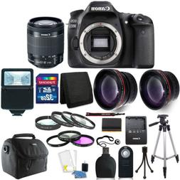 Canon EOS 80D 24.2MP Digital SLR Camera with 18-55mm Lens +