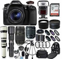 Canon EOS 80D DSLR Camera + Canon EF-S 18-55mm + Tamron 70-3