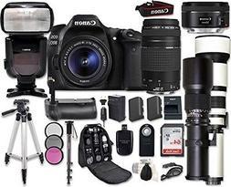 Canon EOS 80D Digital SLR Camera Bundle with Canon EF-S 18-5