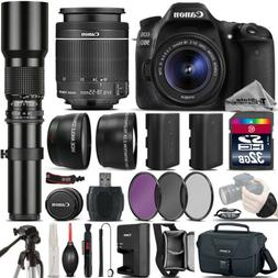 Canon EOS 90D DSLR Camera + 18-55mm IS STM + 500mm Telephoto
