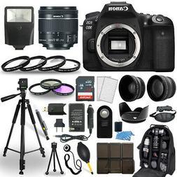 Canon EOS 90D DSLR Camera + 18-55mm STM Lens + 30 Piece Acce