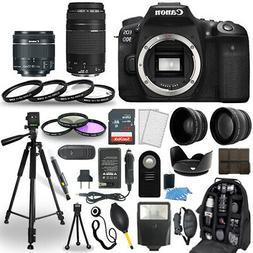Canon EOS 90D DSLR Camera + 18-55mm STM + 75-300mm + 30 Piec