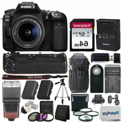 Canon EOS 90D DSLR Camera with 18-55mm Lens + Accessories Bu