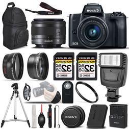 Canon EOS M50 Mirrorless Digital SLR Camera - 3 Lens Kit + 6