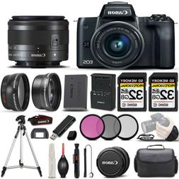 Canon EOS M50 SLR Camera + 15-45mm STM Lens + ULTIMATE Acces