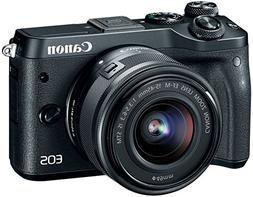 Canon EOS M6 HD Wi-Fi Digital ILC Camera & EF-M 15-45mm IS S