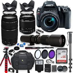 Canon EOS Rebel SL2 DSLR Camera with 18-55mm STM Lens Bundle