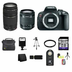Canon EOS Rebel T5i/700D DSLR Camera w/18-55mm, 75-300mm, 8G