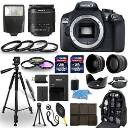 Canon EOS Rebel T6 / 1300D DSLR Camera + 18-55mm Lens+ 30 Pi
