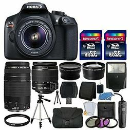 Canon EOS Rebel T6 / 1300D DSLR Camera + 18-55mm IS + 75-300