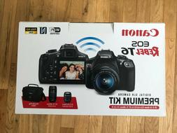 Canon EOS Rebel T6 18.0MP Digital SLR Camera premium Kit w 2