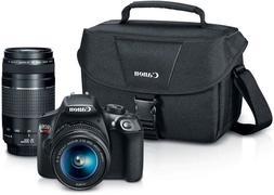 Canon EOS Rebel T6 18MP Digital SLR Camera Black 18-55mm 75-