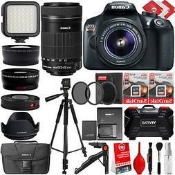 Canon EOS Rebel T6 Digital SLR Camera w/ 24PC 4 Lens 8 to 50