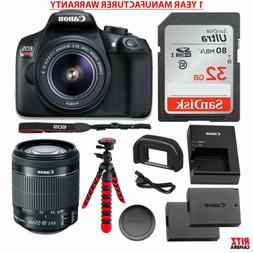 Canon EOS Rebel T6 DSLR Camera Kit, EFS 18-55mm, Memory Card