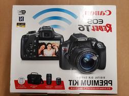 eos rebel t6 dslr camera premium kit