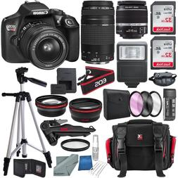 Canon EOS Rebel T6 DSLR Camera with 18-55mm, EF 75-300mm Len