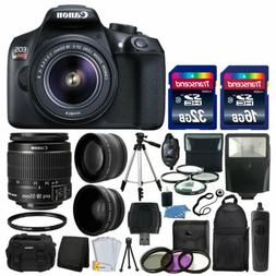 Canon EOS Rebel T6 DSLR Camera & 18-55mm Lens + 48GB Memory