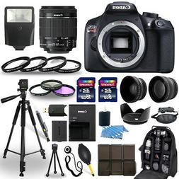 Canon EOS Rebel T6 SLR Camera + 18-55mm IS Lens + 30 Piece A